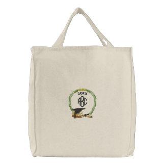 Monogramed Graduation Embroidered Tote Bag