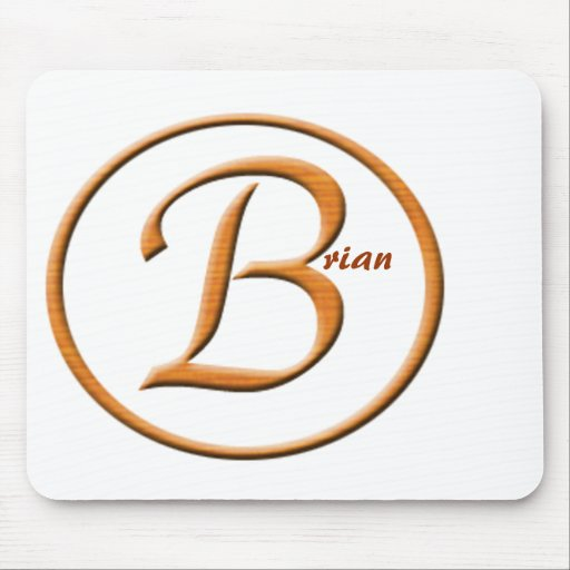 """Monogramed Letter """"B"""" Name Mouse Pad"""