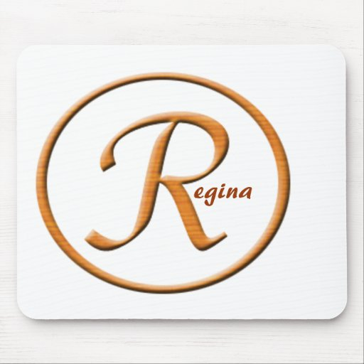 """Monogramed Letter """"R"""" Name Mouse Pad"""