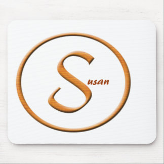 """Monogramed Letter """"S"""" Name Mouse Pad"""