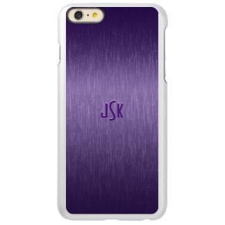 Monogramed Metallic Purple Brushed Aluminum Look Incipio Feather® Shine iPhone 6 Plus Case