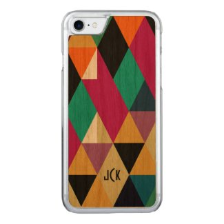 Monogramed Modern Colorful Geometric Pattern 3