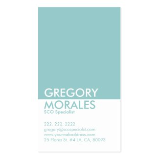 Monogramed Modern White & Blue SEO Specialist Business Card