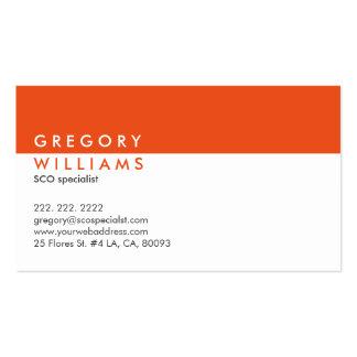 Monogramed Modern White & Orange SEO Specialist Business Card