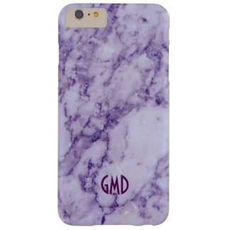 Monogramed Purple Tint Marble Stone Pattern Barely There iPhone 6 Plus Case