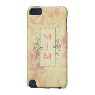 Monogramed Vintage Pink Blossoms IPod Case iPod Touch (5th Generation) Covers