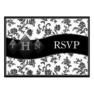 Monogramed Wedding RSVP Cards Large Business Cards (Pack Of 100)