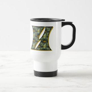 Monogramm Initial H Daisies Floral Travel Mug