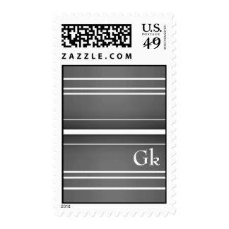 monogramm postage stamp