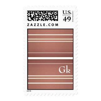 monogramm postage stamps
