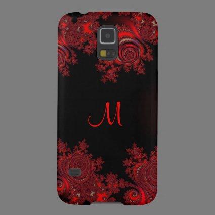 Monogramm Red Rose Fractal Samsung Galaxy S5 Case