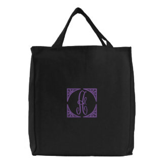 Monogrammable Embroidered Tote Bag