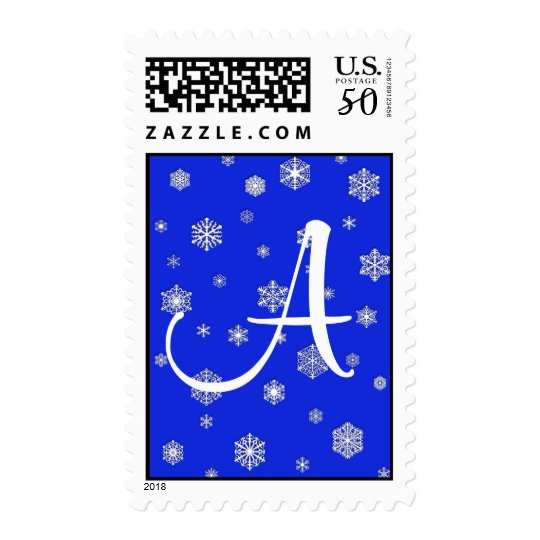 Monogrammable Snowflake Postage Stamps