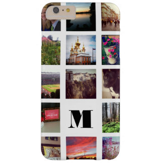Monogrammed 15 Instagram Photos on White Barely There iPhone 6 Plus Case
