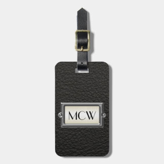 Monogrammed 3-Letter Executive Men's Personalized Bag Tag