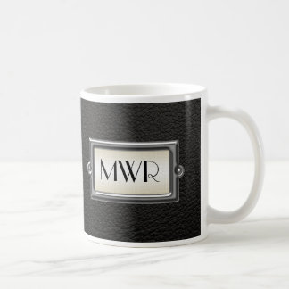 Monogrammed 3-Letter Executive Men's Personalized Coffee Mug