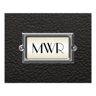 Monogrammed 3-Letter Executive Men's Personalized Flyer