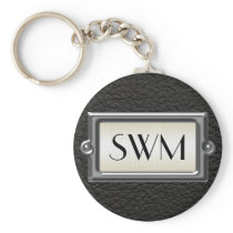 Monogrammed 3-Letter Executive Men's Personalized Keychain