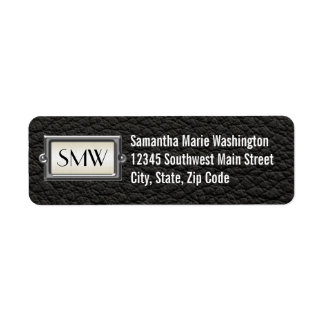 Monogrammed 3-Letter Executive Men's Personalized Label
