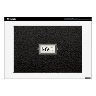"""Monogrammed 3-Letter Executive Men's Personalized Skins For 15"""" Laptops"""