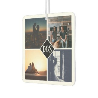 Monogrammed 4 Photo Custom Collage Personalized Air Freshener