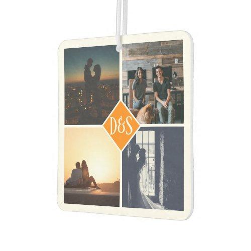 Monogrammed 4 Photo Custom Collage Personalized Air Freshener