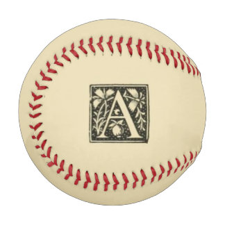 Monogrammed A Baseball
