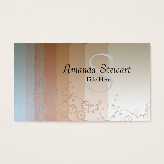 Monogrammed Abstract Business Card