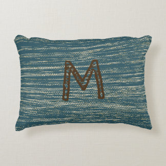 Monogrammed Abstract Pattern Accent Pillow