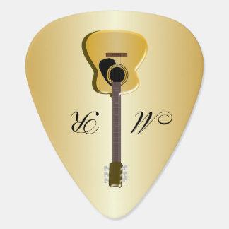 Monogrammed Acoustic Guitar Guitar Pick