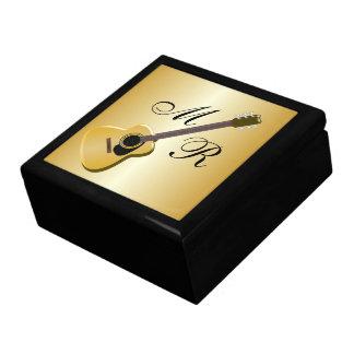Monogrammed Acoustic Guitar Keepsake Box