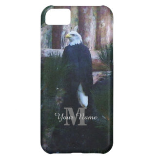 Monogrammed american bald eagle iPhone 5C case
