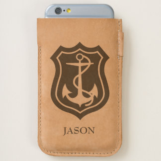 Monogrammed Anchor And Rope iPhone 6/6S Case