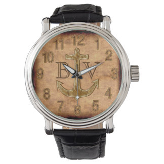 Monogrammed Anchor Best Deployment Gifts for Him Watches