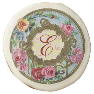 Monogrammed Antique French Rose Cookies