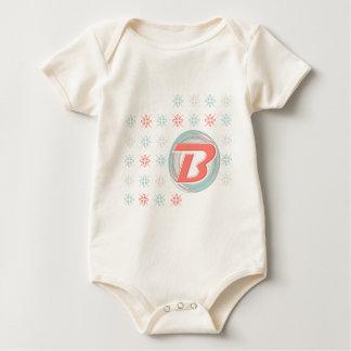 "Monogrammed ""B"" Infant Organic Bodysuit"