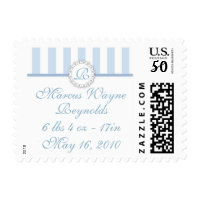 Monogrammed Baby Boy Postage