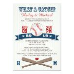 Monogrammed Baseball Couples Wedding Shower Card