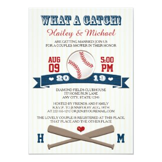 Monogrammed Baseball Couples Wedding Shower