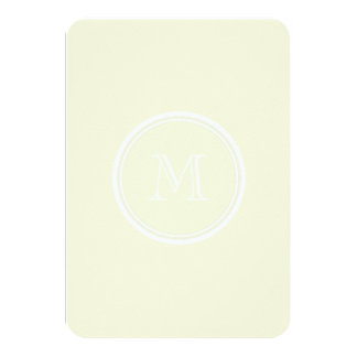 Monogrammed Beige High End Colored 3.5x5 Paper Invitation Card