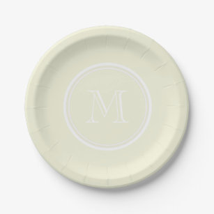 Monogrammed Beige High End Colored Paper Plate  sc 1 st  Zazzle & Beige Solid Color Plates | Zazzle