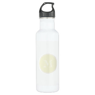Monogrammed Beige High End Colored Water Bottle