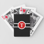 Monogrammed Bicycle Poker Cards