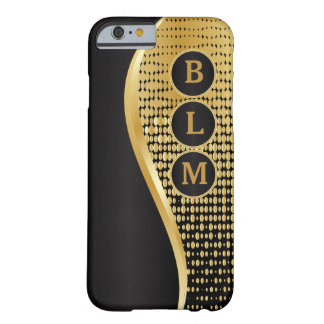 Monogrammed Black and Gold Mesh iPhone 6 Case