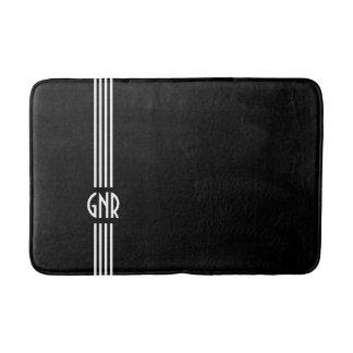Monogrammed ~ Black and White Deco Bath Mat