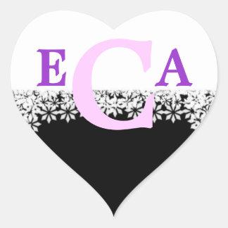 Monogrammed Black and White Sticker Letter C