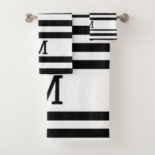 Black Striped Bathroom Accessories Zazzle