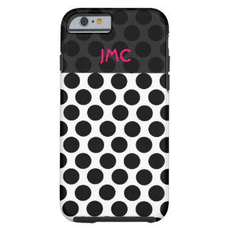 Monogrammed Black Dottie Tough iPhone 6 Case
