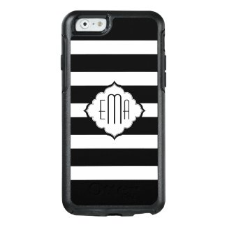 Monogrammed Black Horizontal Stripes