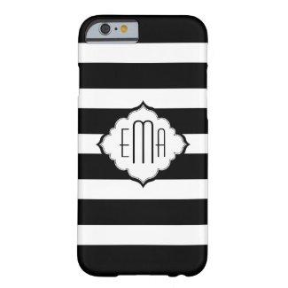 Monogrammed Black & White Stripes